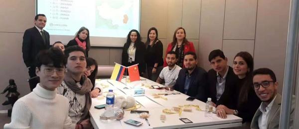 En la sede del Consulado de Colombia en Shanghái fue recibida la delegación de la Universidad Javeriana