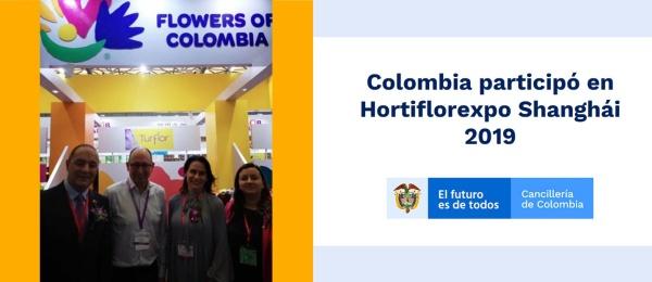 Colombia participó en Hortiflorexpo Shanghái 2019