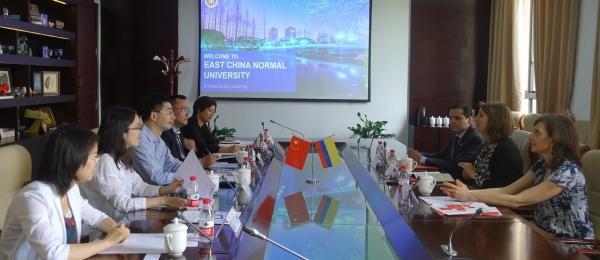 El Consulado General de Colombia en Shanghái acompañó la visita de la Universidad del Rosario a la Universidad  East China Normal University