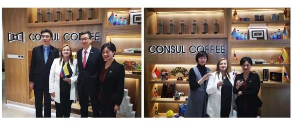 La Cónsul General de Colombia en Shanghái, Luz Helena Echeverry, participó en la inauguración de la tienda de Café Cónsul