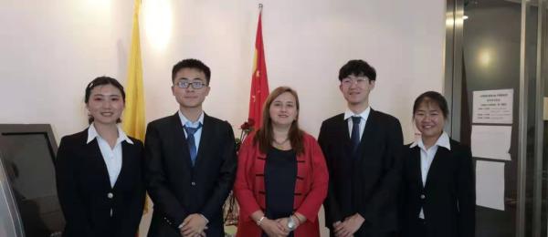 La Cónsul General de Colombia sostuvo un encuentro con los estudiantes de la Universidad de Negocios Internacionales y Económicos