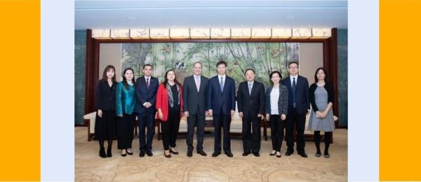 El Embajador Luis Diego Monsalve y la Cónsul Luz Helena Echeverry se reunieron con el Vicealcalde de Shanghái